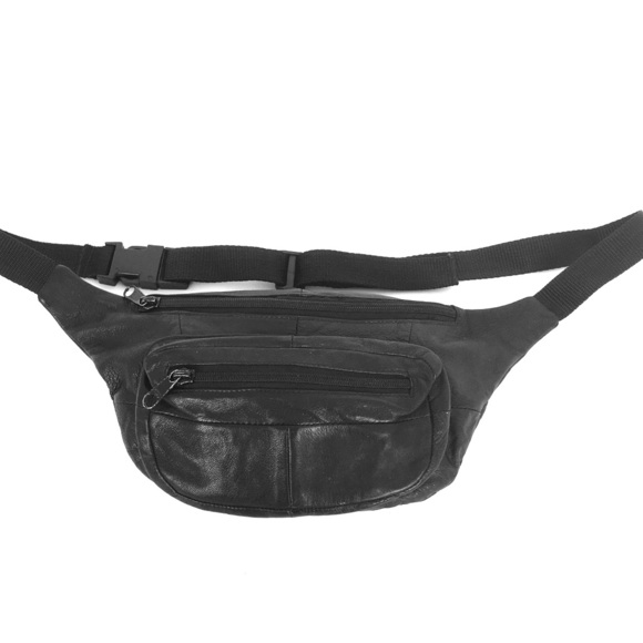be9294cb5ab Leather Fanny Pack Black